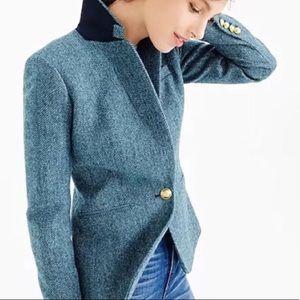 J. CREW Moon Luxury Fabric Herringbone Blazer 4